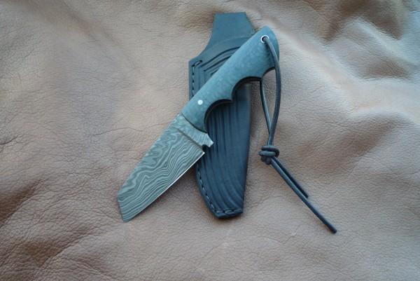 3 Finger Messer K98 Damast